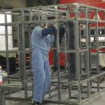 製缶 精密機器 フレーム ステンレス架台 架台製作(塗装前)